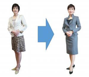 高野いせこ氏による石川慶子の服装アレンジ